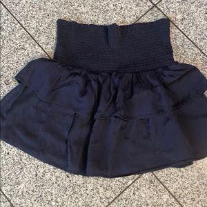 the man repeller navy blue peplum tube top/skirt L